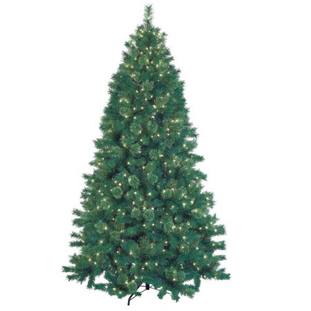 jeco inc 75 green artificial christmas tree with 600 lights and stand