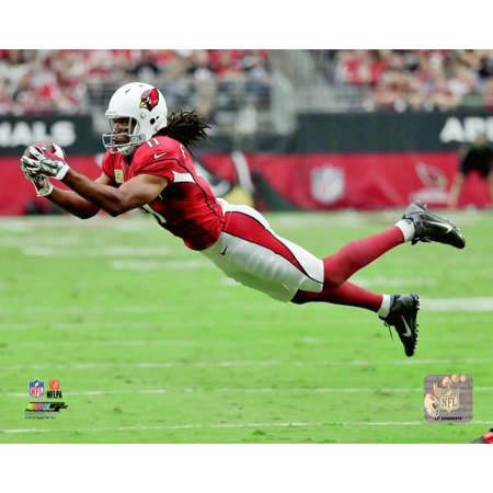 Autographed Larry Johnson Photo (Larry Fitzgerald 2016 Action Photo Print )