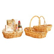 Wald Import Stained Willow Basket - Set of 3