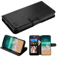 """Kaleidio Case For Apple iPhone XS Max (6.5"""") [MyJacket] PU Leather Hybrid Wallet [Card Slot][Stand Feature] Flip Folio Cover w/ Overbrawn Prying Tool [Black]"""
