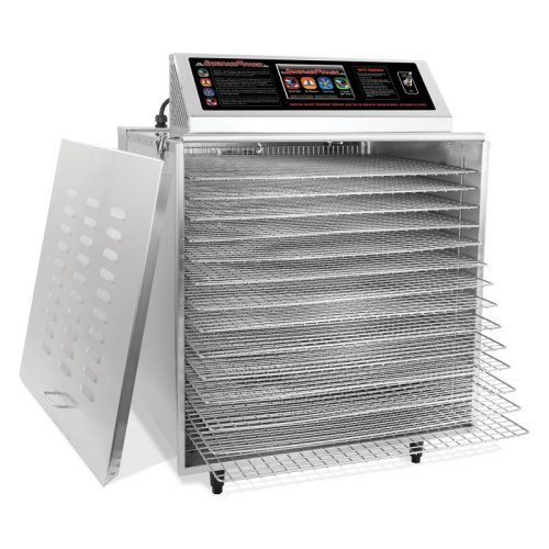 TSM 32629 14 Tray Digital Touch Screen Insulated Food Dehydrator with Stainless Steel Shelves