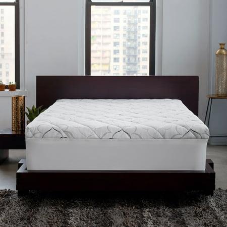 Sleep Innovations Instant Pillow Top Memory Foam and Fiber Hybrid Mattress Topper, 10-Year Warranty, Multiple Sizes (Sleep Innovations King Topper)