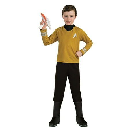Star Trek Boys Deluxe Captain Kirk Halloween Costume Captain Kirk Uniform