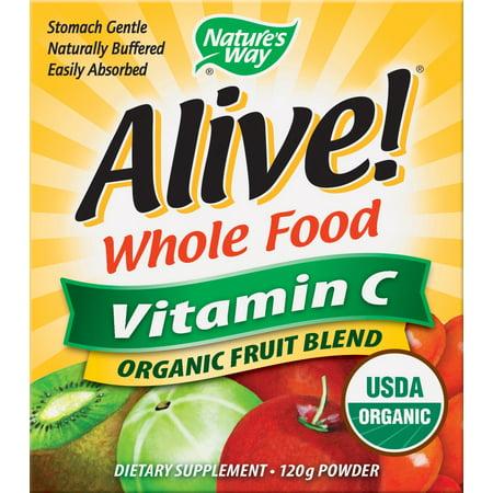 Nature's Way Vivant! La vitamine C organique en poudre, 120 grammes, 4,23 ONCE
