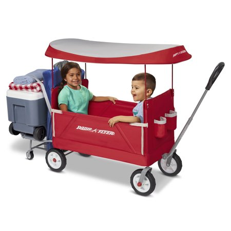 Radio Flyer, 3-in-1 Tailgater Wagon with Canopy, Folding Wagon, Red (Radio Flyer Wood Wagon)