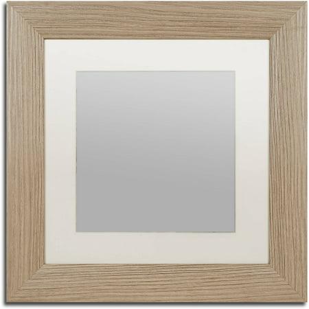 Trademark Fine Art Heavy-Duty 11x11 Birch Wood Picture Frame with ...