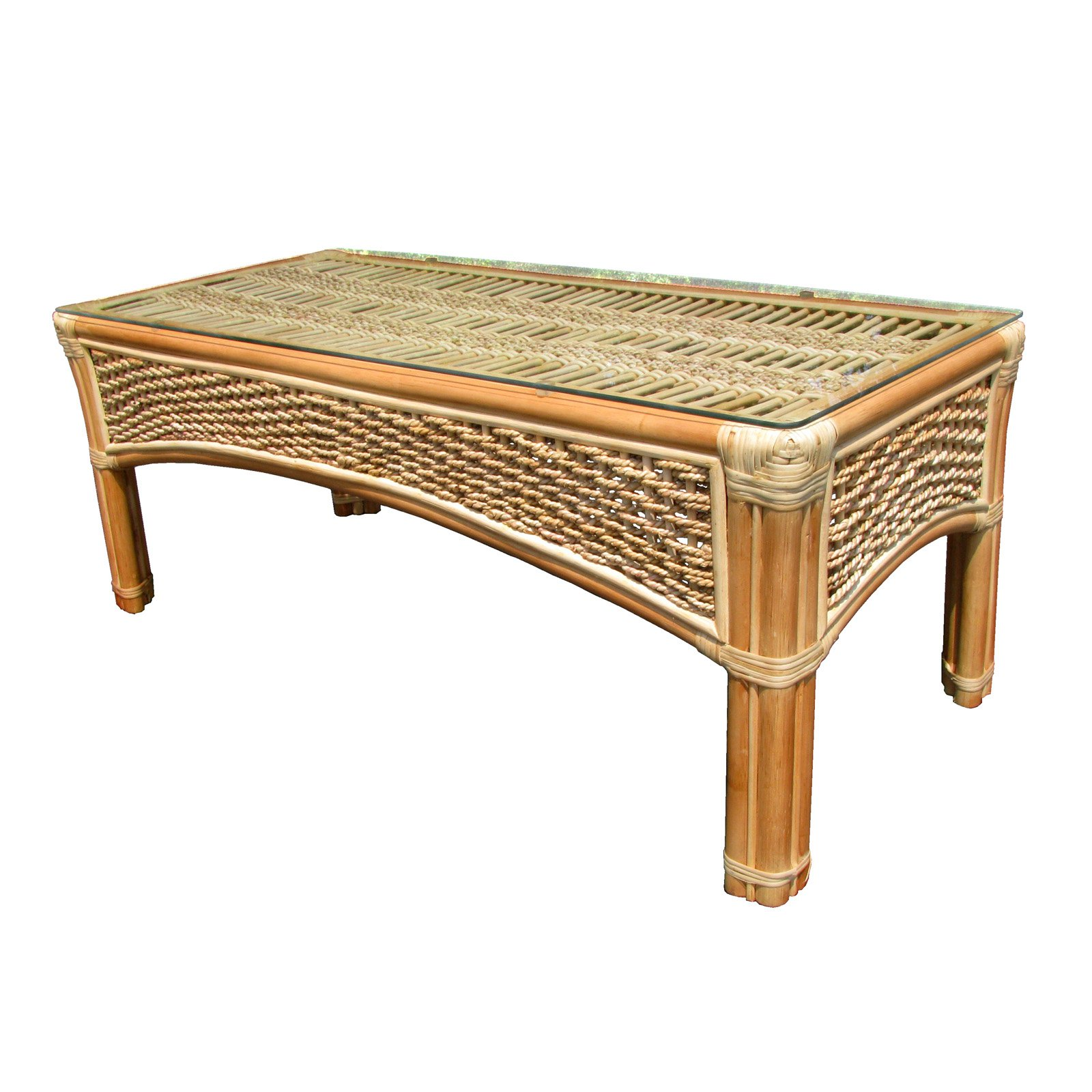 Spice Island Wicker Coffee Table by Yesteryear Wicker
