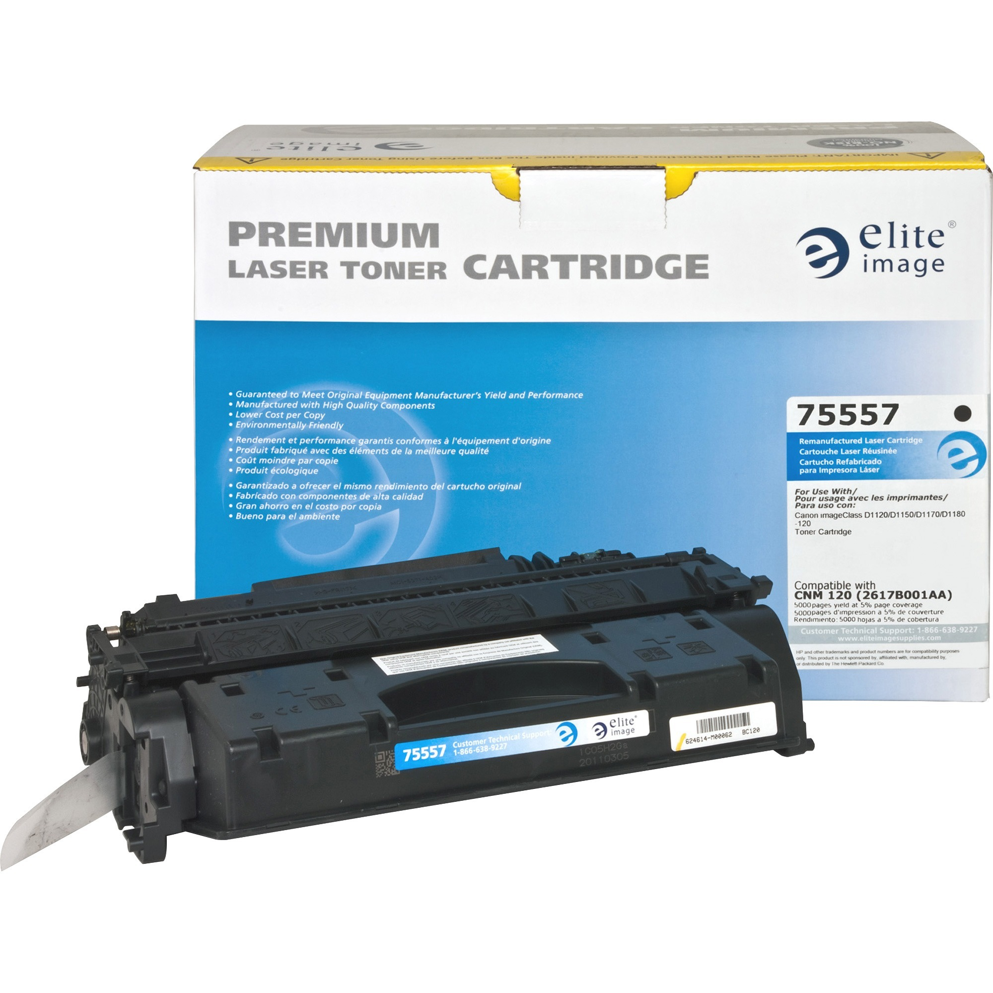Elite Image, ELI75557, 75557 Remanufactured Canon 120 Toner Cartridge, 1 Each
