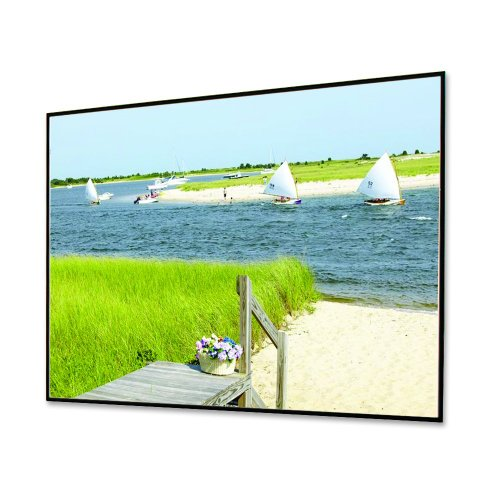 """Clarion Grey Fixed Frame Projection Screen Viewing Area: 106"""" diagonal"""