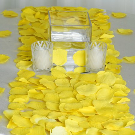 Efavormart 500pcs Artifical Real Looking Rose Petals for Wedding Aisle Party Favor Jewelry Candy Sheer Flower (Sheer Favor Envelopes)