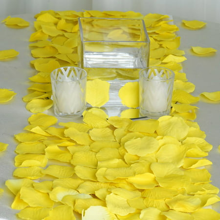 Efavormart 500pcs Artifical Real Looking Rose Petals for Wedding Aisle Party Favor Jewelry Candy Sheer Flower Decoration - Simple Wedding Decorations