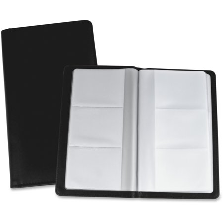Lorell Business Card Storage Holder, Black, Clear, 1 Each (Quantity)