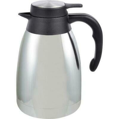 Genuine Joe 1.5 L Vacuum Insulated Chrome Carafe - 1.3 quart (1.2 L) - Vacuum - Steel Gray Blue Designer Carafe