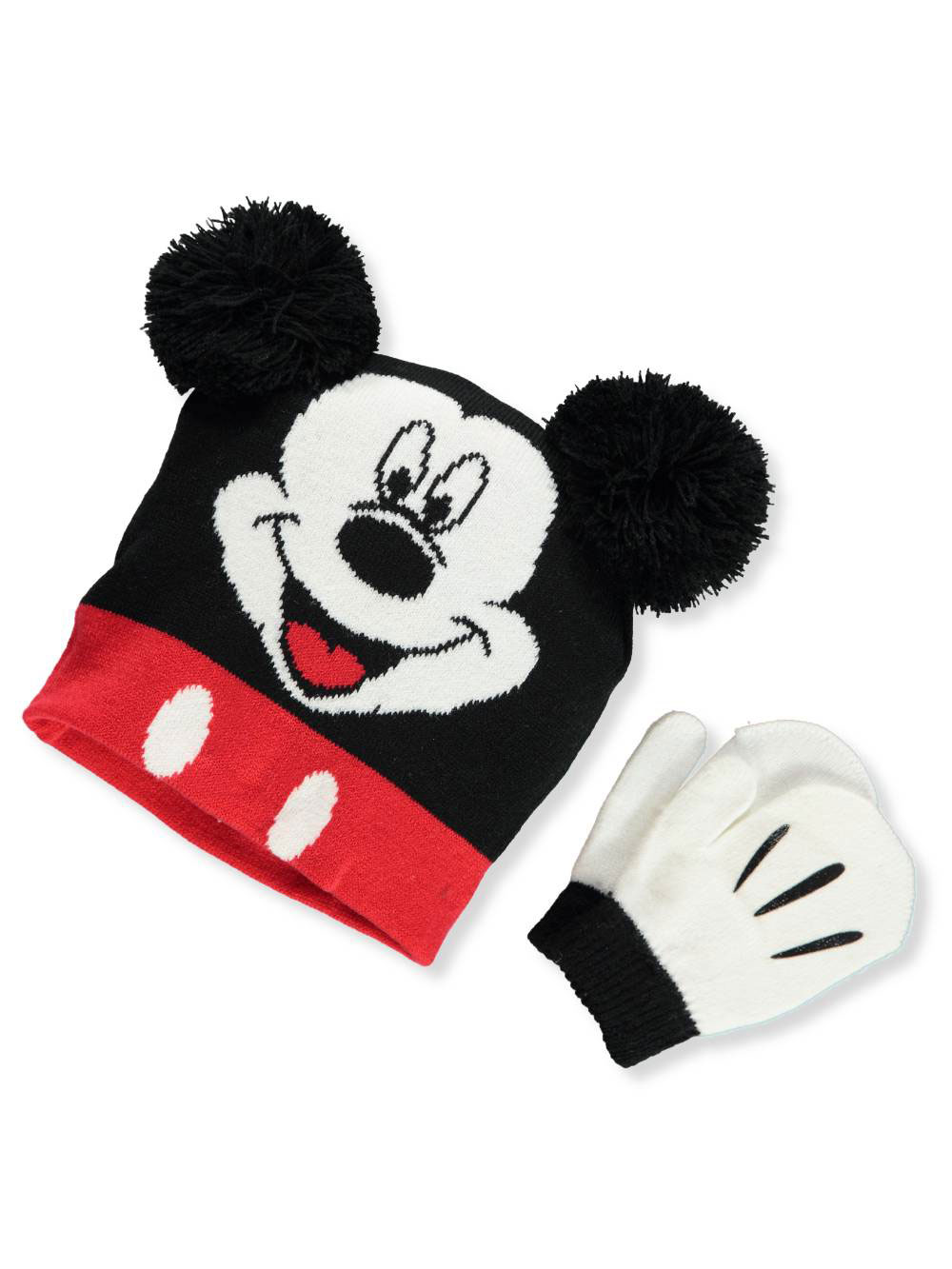 Disney Mickey Mouse Boys' Beanie & Mittens Set (Toddler One Size)