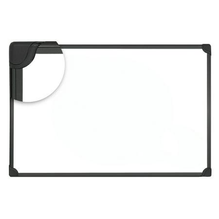 Universal Design Series Magnetic Steel Dry Erase Board, 36 x 24, White, Black Frame -UNV43025 Dry Erase Board Black Steel