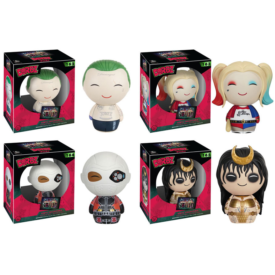 Funko Dorbz Vinyl Figures Suicide Squad SET OF 4 (Joker, Harley Quinn, Enchantress &... by Funko