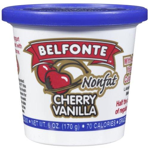 Belfonte Nonfat Cherry Vanilla Yogurt, 6 oz