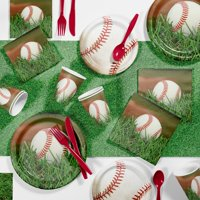 Baseball Party Supplies Kit for 8 Guests