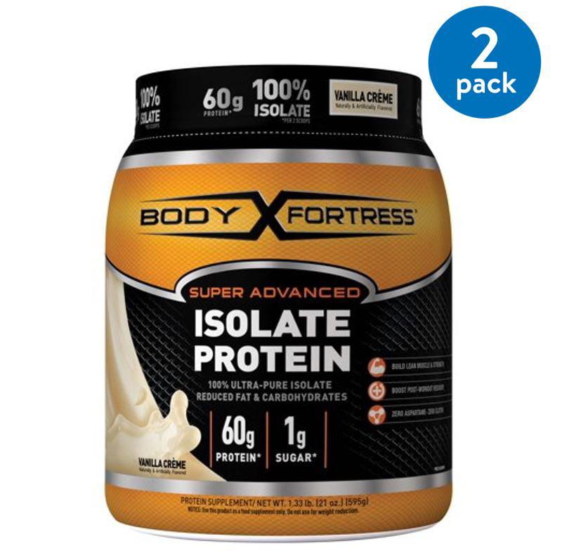 (2 Pack) Body Fortress Super Advanced Whey Protein Powder, Vanilla, 60g Protein, 1.33 Lb