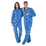 "Footed Pajamas - Its A Snow Day Adult Fleece Onesie (Adult - Small (Fits 5'5 - 5'7""))"