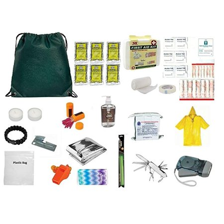 3 Day Emergency Food Water Blanket Whistle Flashlight 1st Aid Survival Kit 72 (Parent Survival Kit For First Day Of School)