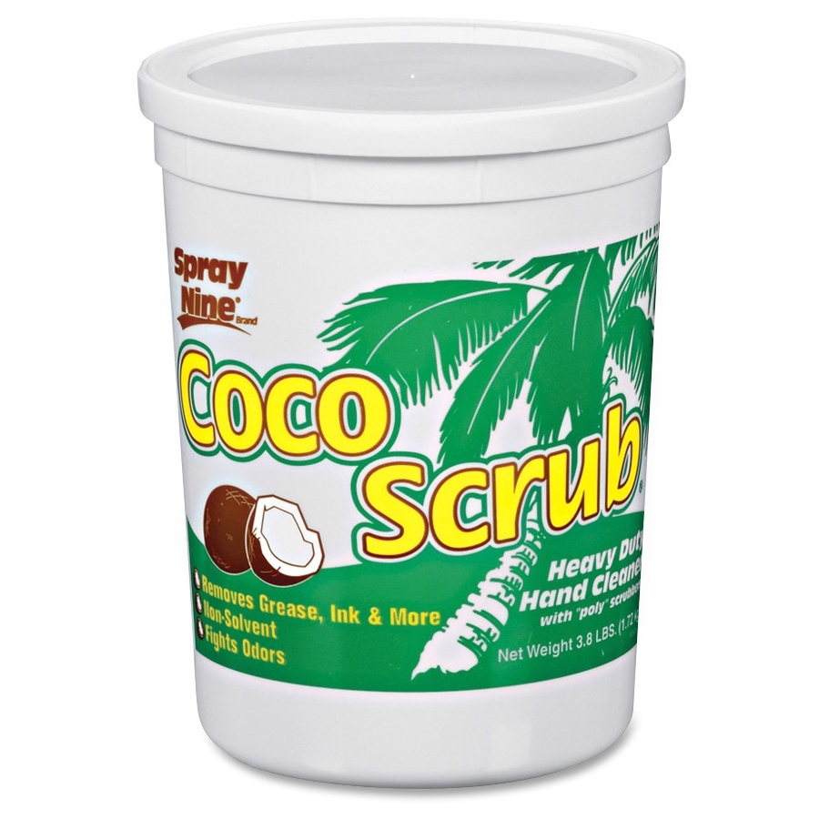 Spray Nine Coco Scrub Heavy Duty Hand Cleaner - Coconut Scent - Dirt Remover, Grease Remover, Ink Remover, Adhesive Remover - Hand - White - Heavy Duty - 6 / Carton (14104ct)