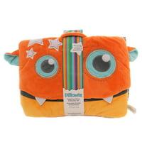 Child Related TAGALONG PILLOW & BLANKET SET Tote Preschool Kitoo123 Orange