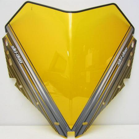 - Ski-Doo New OEM Medium Mid Height Fixed Windshield REV-XP Yellow 14.5