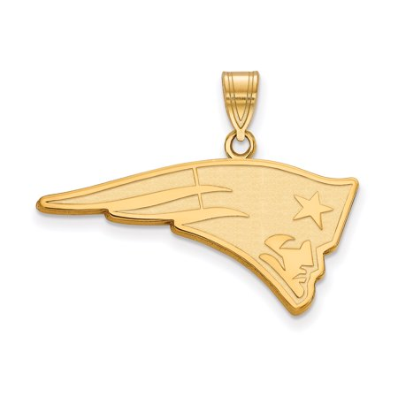 New England Patriots Gold-Plated Large Logo Pendant - No