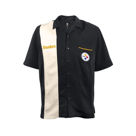 Little Earth - Pittsburgh Steelers Strike Men s Bowling Shirt - Walmart.com ca75f44ea