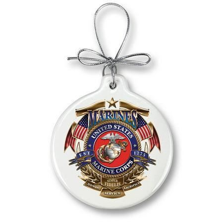 USMC Marine Corps Badge of honor-Christmas Tree - Patriotic Christmas Ornaments