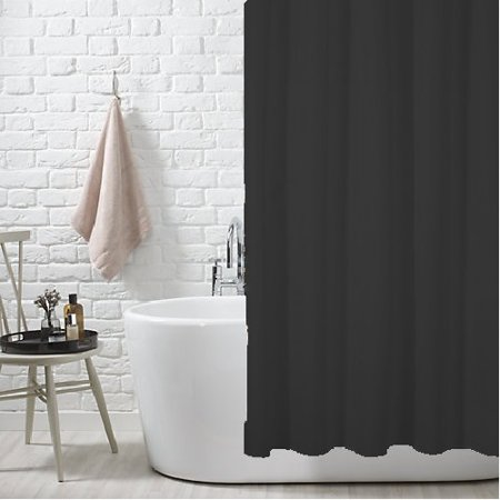 Black Fabric Shower Curtain Liner With Metal Grommets