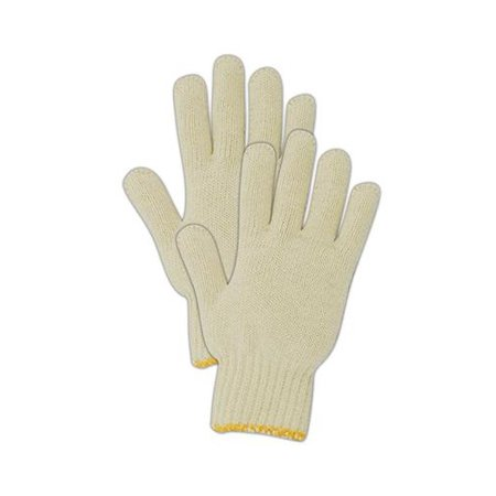MAGID GLOVE & SAFETY 93CT Knit Cotton Utility Glove, Small, White