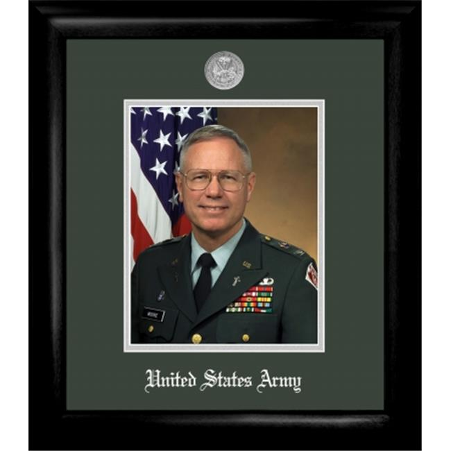 Campus Image ARPS002 Army Portrait Frame Silver Medallion