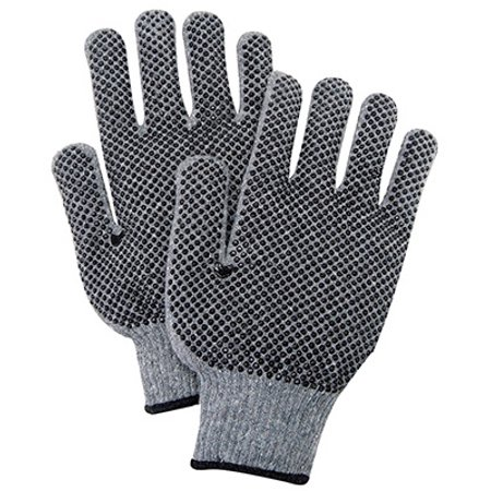 Magid Glove & Safety Mfg G823PRT3 3PK LG GRY Knit Glove