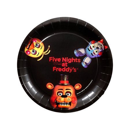 Horror Party Supplies (Five Nights at Freddy's Large Paper Plates)