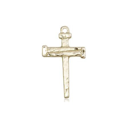 Nail Cross Pendant in 14 KT Gold Filled