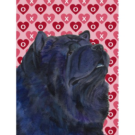 Caroline's Treasures Chow Chow Hearts Love and Valentine's Day Portrait 2-Sided Garden Flag
