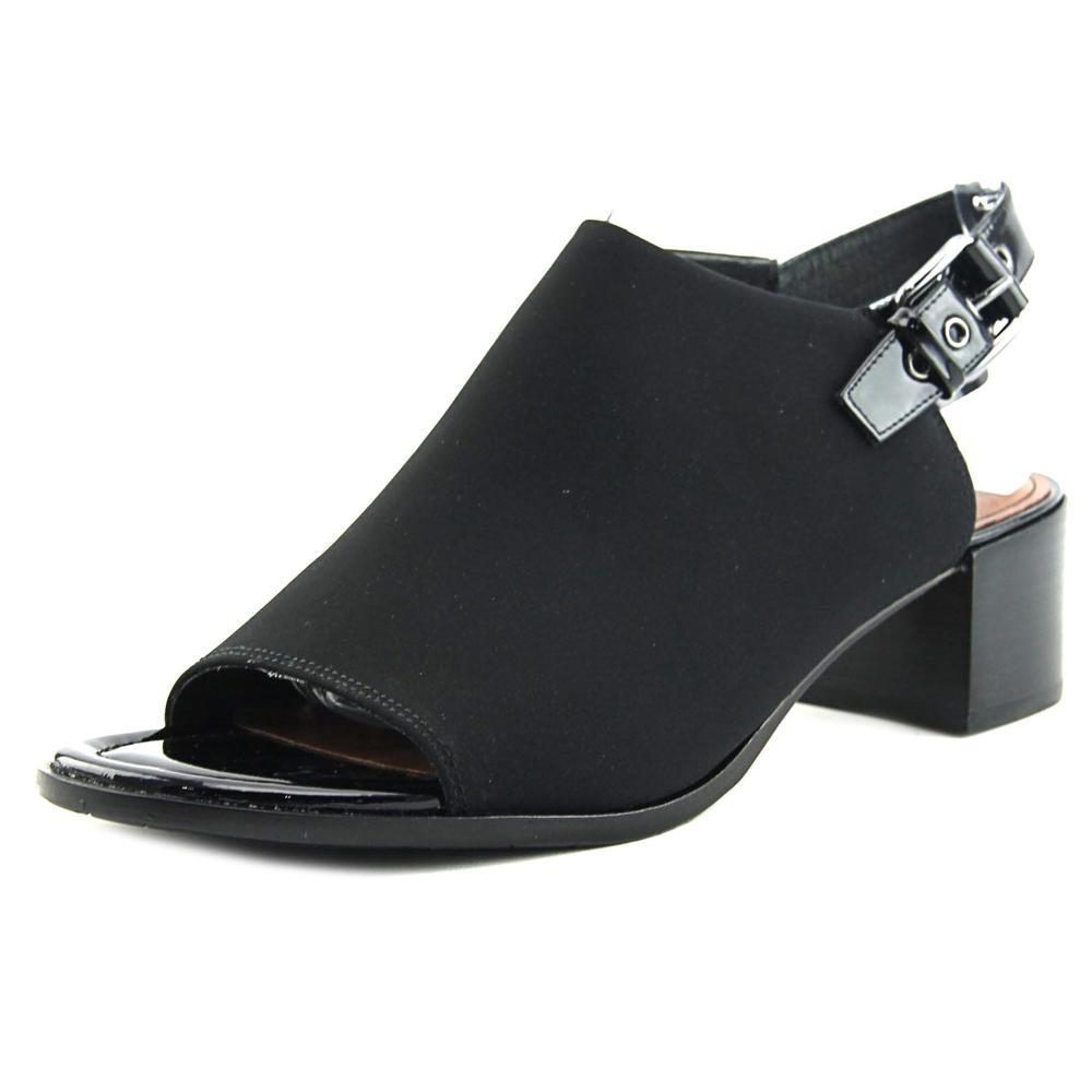 Donald J Pliner Mazie Women Open-Toe Synthetic Black Slingback Sandal by Donald J Pliner
