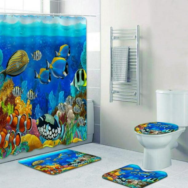 Underwater Scene With C Reef And, Wildlife Bathroom Decor