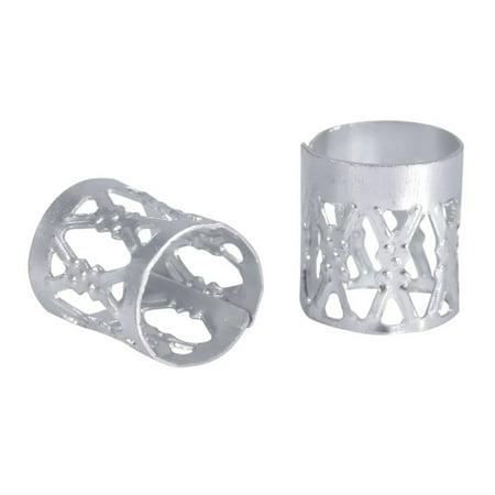 Led Dreadlocks (Aluminum Dreadlock Beads Metal Hair Cuffs Hair Braiding Beads Decoration Accessories 100Pcs)