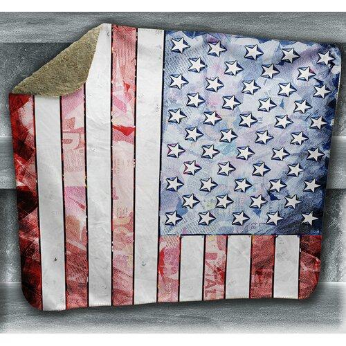 Winston Porter Pamelia American Flag Blanket
