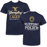 Yuengling 33698L Yuengling Support Police Mens Tee Shirt, Large