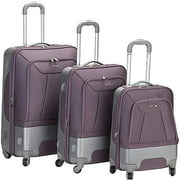 Rockland Luggage Rome 3 Piece Hybrid EVA/ABS Spinner Luggage Set, Multiple Colors