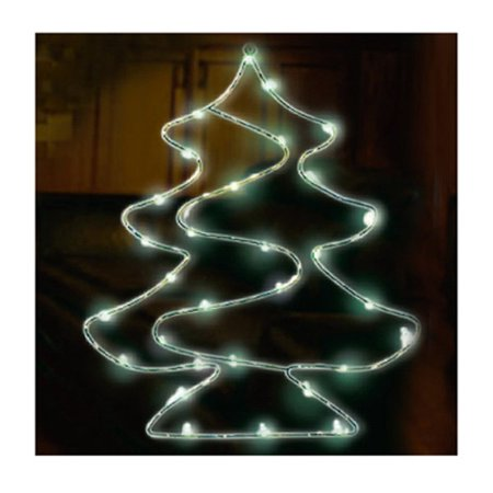 endura right lighting x12bwd1043tv christmas window decoration tree battery operated 30 led - Battery Operated Christmas Window Decorations