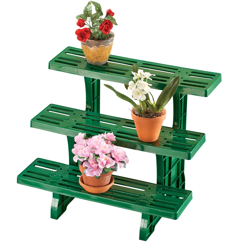 Versatile 3 Tier Plant Stand, Green by Collections Etc