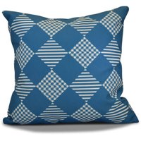 "Simply Daisy 16"" x 16"" Check It Twice Geometric Print Outdoor Pillow"