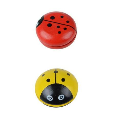 Cute Animal Wooden Yoyo Toys Portable Ladybug Printing Yoyo Ball For Children - image 6 de 6