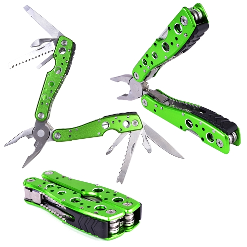 Jakemy 9-in-1 Multi Tool Folding Pliers w/Knife, Bottle Opener & Screwdriver