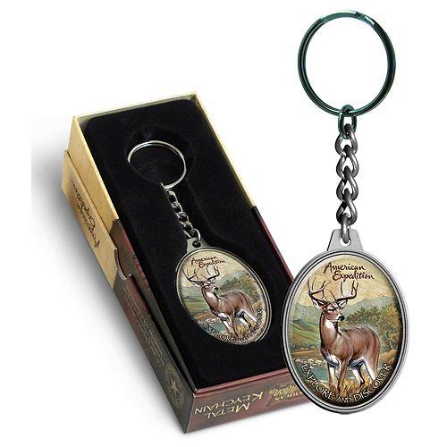 AmExp Keychain Whtl Deer
